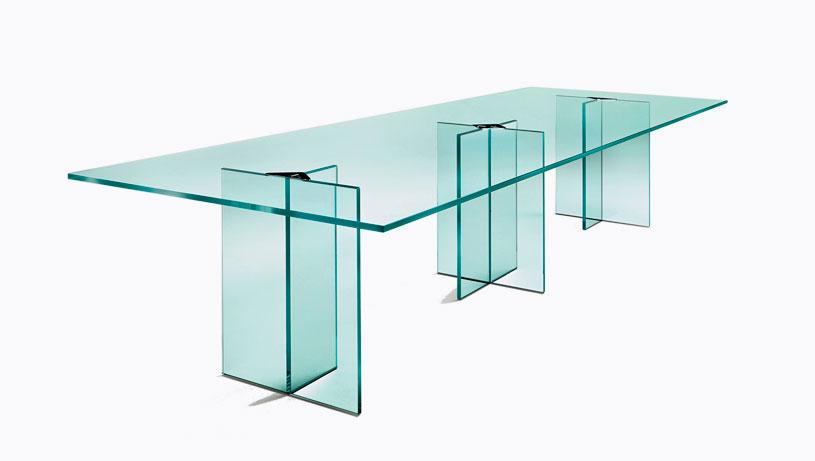 Mesas de vidrio para salas de reuni n de oficinas mazoti for Mesas de vidrio de diseno
